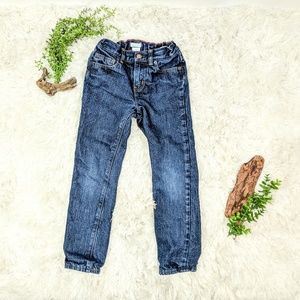 CREWCUTS Boys' red flannel-lined slim jeans 0266
